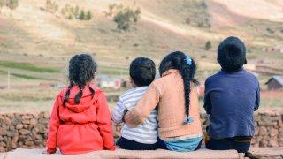 Enfants la puna Tolar Grande voyage Salta