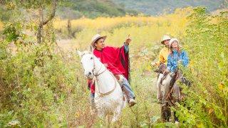 randonnée à cheval vallée lerma chicoana champs tabac voyage argentine Salta