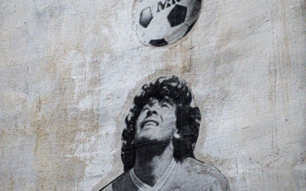 Diego maradona foobol argentin