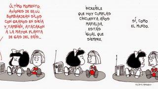 Mafalda quino ofelia dessinateur argentin