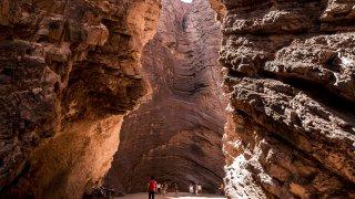La Garganta del Diablo Quebrada de las Conchas, voyage nord-ouest argentin