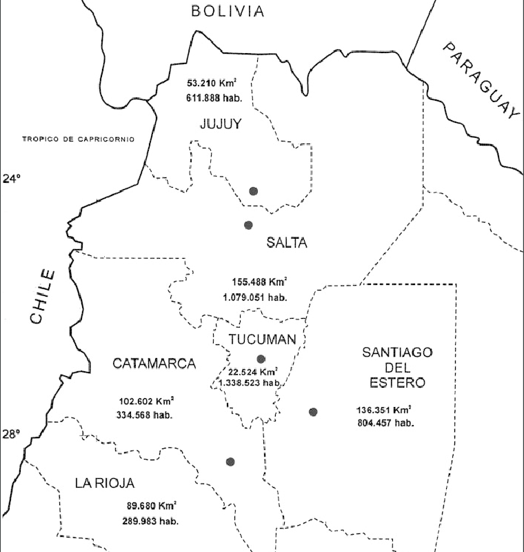 géographie du nord ouest argentin